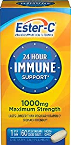 Ester-C  Vitamin C, 1000 mg, 60 Coated Tablets (Pack of 2)