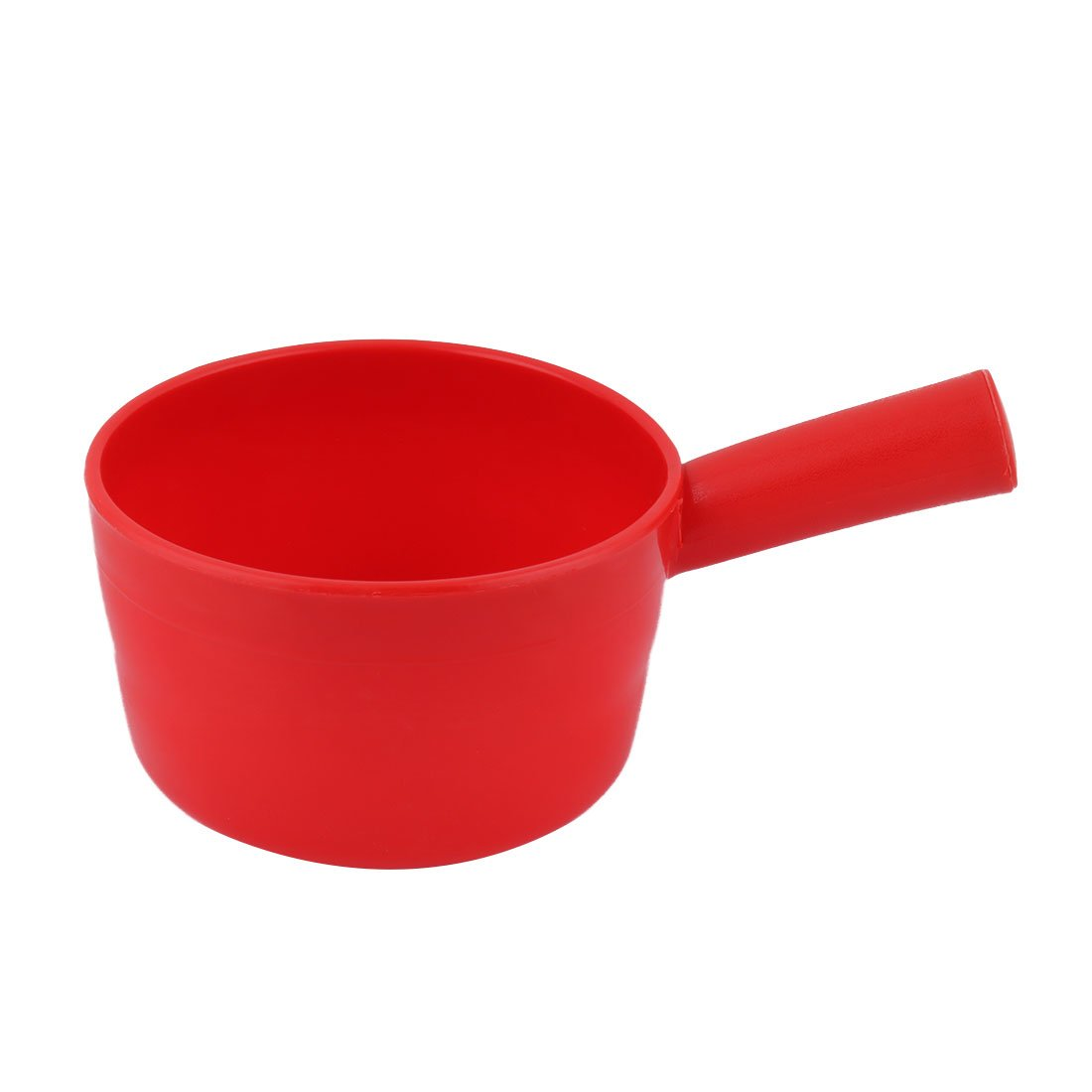uxcell Plastic Round Shape Home Kitchen Nonslip Grip Water Dipper Ladle Bailer Red a17050900ux1190