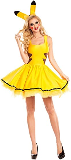 shoperama Pikachu para Disfraz de Mujer Sexy Petticoat Vestido y ...