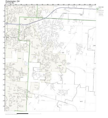 ZIP Code Wall Map of Pickerington, OH ZIP