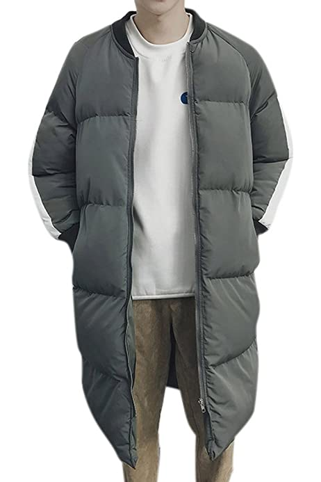 Hochock Mens Thicken Cotton Quilted Puffer Pullover Hoodie Outerwear Down Coat