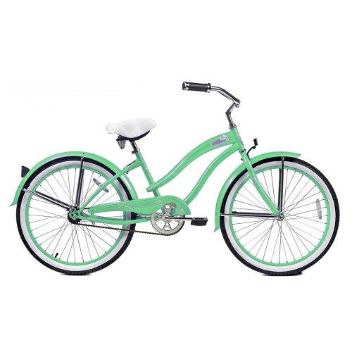 Micargi Rover Beach Cruiser Bike, Mint Green, 24-Inch