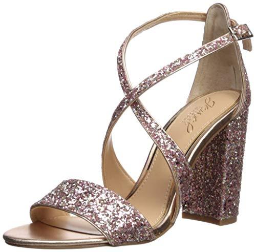 Badgley Mischka Jewel Women's Cook Heeled Sandal, Rose Gold, 8.5 M US