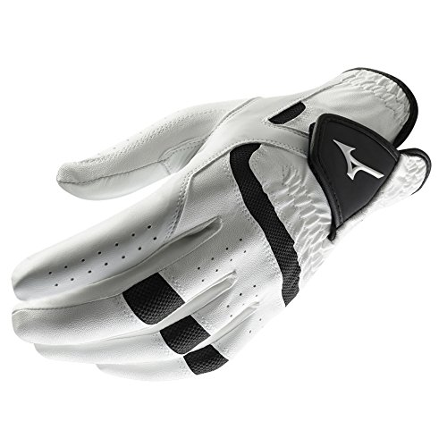 Elite Mens Black Gloves (Mizuno 2018 Elite Men's Golf Glove, Left Hand, White/Black, XX-Large)