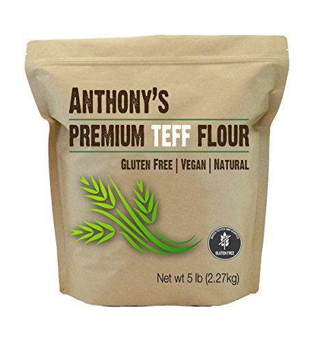 Brown Teff Flour (5 Pounds) by Anthony's, Batch Tested Gluten-Free by Anthony's
