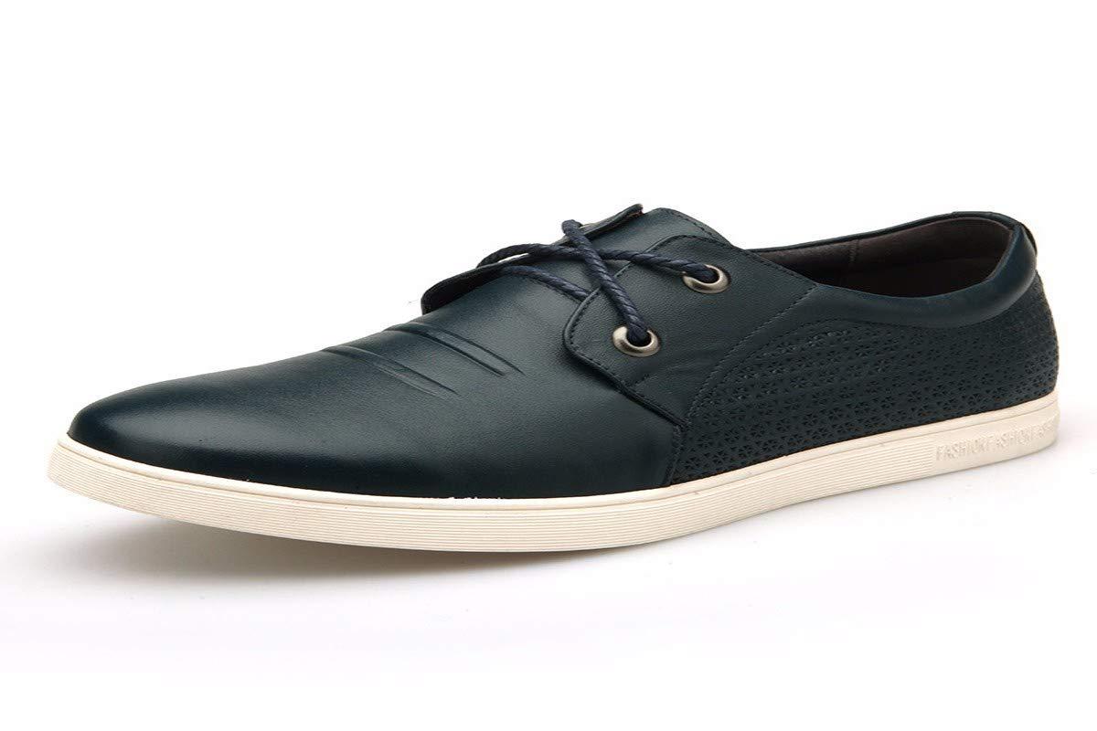 KMJBS-Cuir Chaussures en Cuir d'hommes D'Âge Mûr Cravate noir Trente-Neuf