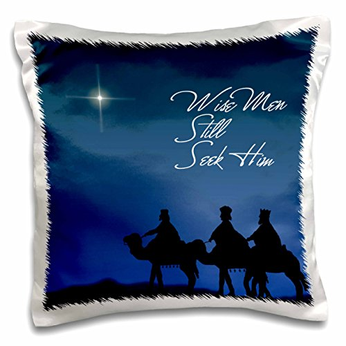 3dRose pc_30754_1 Wise men still seek Him Magi following the Christmas star-Pillow Case, 16 by 16