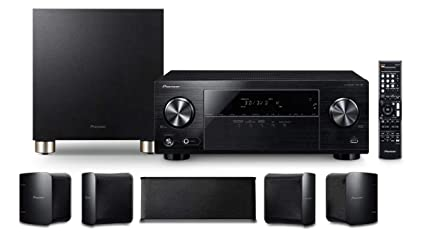 Pioneer HTP-074 Home Theater Package with 5 1-channel AV Receiver, 5  Speakers & 1 Subwoofer, Bluetooth,3D Ready, 4K Pass-through, HDCP 2 2, HDR,  4