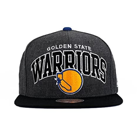 89a3cc2c6a8 Image Unavailable. Image not available for. Color  Mitchell and Ness NBA Golden  State Warriors Arch Charcoal 2 Tone Snapback Cap
