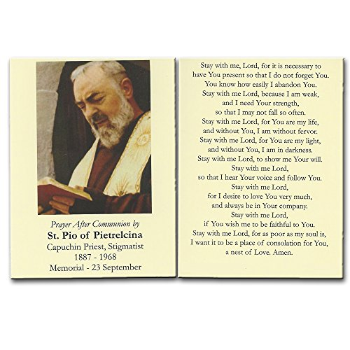 - St. Padre Pio Prayer After Communion Card 10 Pk