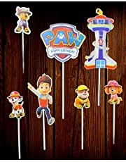 Stunning decorations toppers for Paw Patrol cakes, 7 Carboard pcs included.