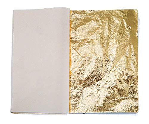 04480920e KISEER 300 Sheets Imitation Gold Silver Rose Gold Leaf for Arts, Gilding  Crafting, Decoration