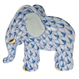 Herend Miniature Elephant Blue Fishnet