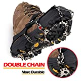 Upgraded Version of Walk Traction Ice Cleat Spikes Crampons,True Stainless Steel Spikes and Durable Silicone,Attaches Over Shoes/Boots for Everyday Safety in Winter,Outdoor,Ice&Snow.-by EnergeticSky™