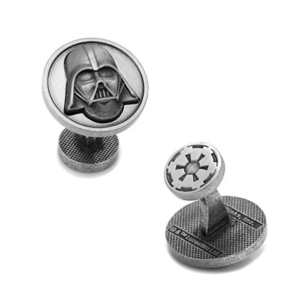 Star-Wars-Antique-Round-Darth-Vader-Cufflinks-Officially-Licensed