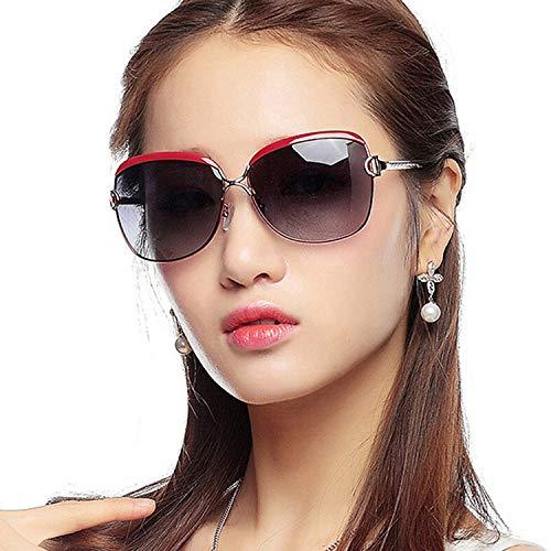 Conduite Rouge la achats pour Mode de CJJC Filles Lunettes Utilisation la Les de Noir des Voyage Femmes Anti Grandes polarisées UV Red présentes de Soleil 6wnaxZ4qgn