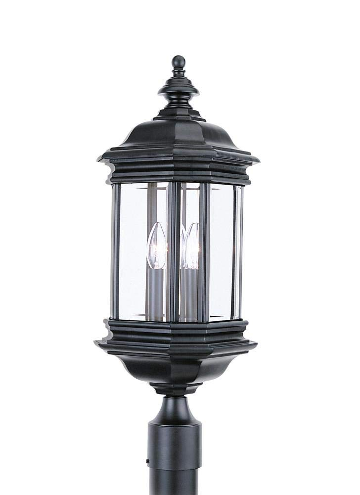 Black Sea Gull Lighting 1892203 Sea Gull 8238EN-12 Hill Gate Outdoor Post 3-Light 10.5 Total Watts
