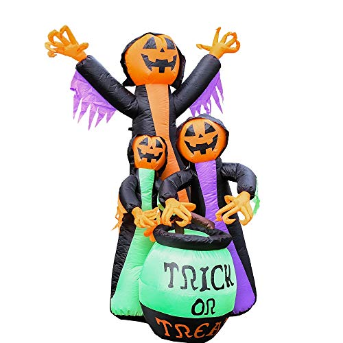 ALEKO HLID053 Halloween Inflatable Trick Or Treat Pumpkin Witches - 6 Foot