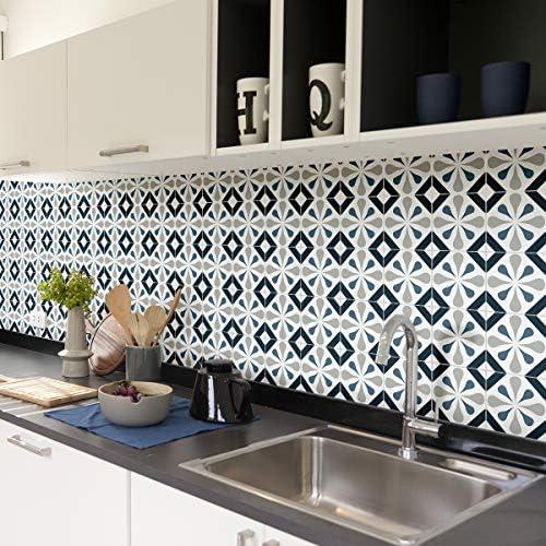 Tegelstickers zelfklevend cementtegels wanddecoratie wandstickers tegelstickers voor badkamer en keuken 15 x 15 cm 60 stuks