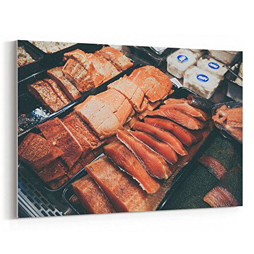 Bacon Wrapped Pork Filet - Westlake Art Canvas Print Wall Art - Brisket Meat on Canvas Stretched Gallery Wrap - Modern Picture Photography Artwork - Ready to Hang - 12x18in (a84z)