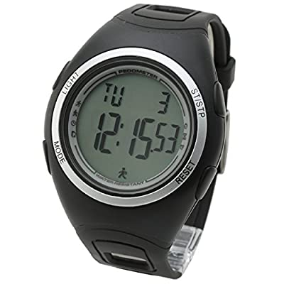 [Lad Weather] 3d Pedometer Alarm Stopwatch Exercise Time/ Jogging/ Walking Running Outdoor Calorie Men's Sports Watches