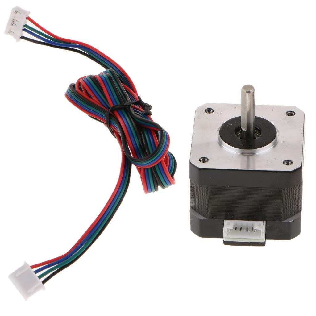 Baosity 42 Stepper Motor Nema 17 Bipolar 42mm 4.4kg.cm 1.68A 4 Lead 3D Printer Hobby CNC with Motor line