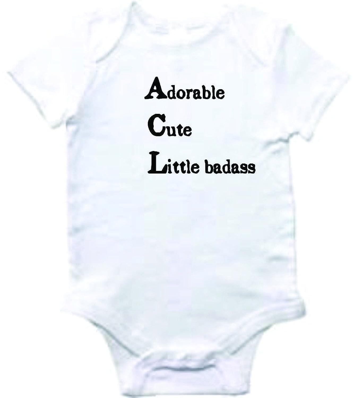 Amazon Baby Clothes Adorable Cute Little Badass Bodysuit e