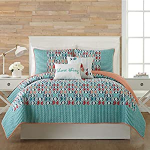51IoV0283gL._SS300_ Coastal Bedding Sets & Beach Bedding Sets