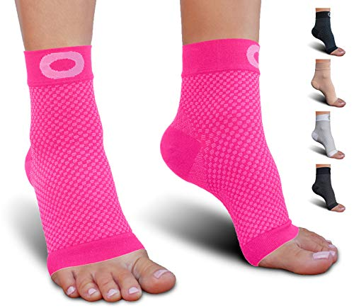 Plantar Fasciitis Socks with Arch Support for Men & Women - Best Ankle Compression Socks for Foot and Heel Pain Relief - Better Than Night Splint Brace, Orthotics, Inserts, (Best Plantar Fasciiti Sock)