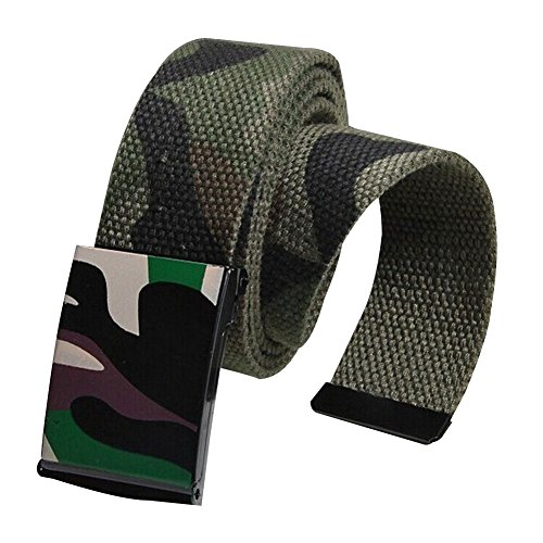 Sitong Unisex casual fashion camouflage canvas belt(Camouflage Army Green) - Printed Canvas Belt