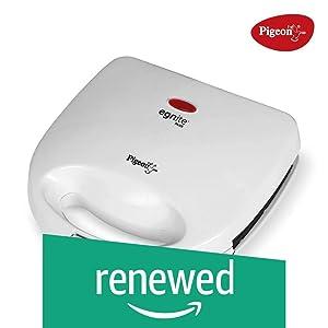 (Renewed) Pigeon Egnite Plus Sandwich Toaster (White)