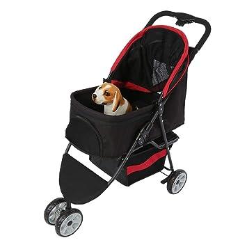 Cochecito para Mascotas GOTOP, 3 Ruedas, Color Negro, para Gato, Perro, Cachorro, Cochecito, portátil, Plegable, para pasear de Viaje: Amazon.es: Productos ...