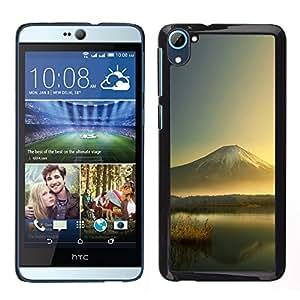 // PHONE CASE GIFT // Duro Estuche protector PC Cáscara Plástico Carcasa Funda Hard Protective Case for HTC Desire D826 / Mountain Lake /