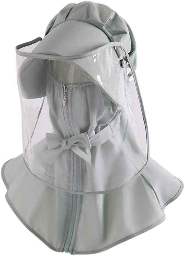 Pantalla Facial Protectora, Protección del Cuello Pantalla De Rostro Completo Ciclismo Al Aire Libre Montar Pesca Sombrero para El Sol Gorra De Béisbol