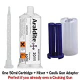Huntsman Araldite 2011 Slow-Setting All-Purpose Epoxy (50ml/1.7oz + Caulk Gun Adapter Kit)