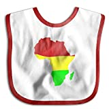 Africa Map Funny Baby Bibs Burp Infant Cloths Drool Toddler Teething Soft Absorbent