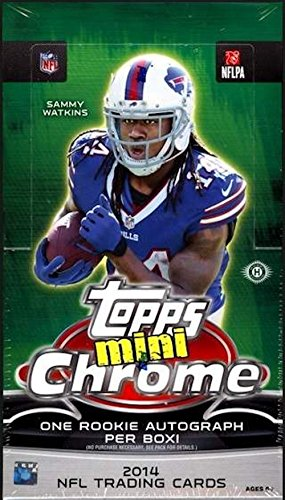 (2014 Topps Chrome Mini Football Hobby Box (24 Packs/Box, 4 Cards/Pack, One Mini Rookie Autograph Card/Box plus more inserts) - In Stock!!)