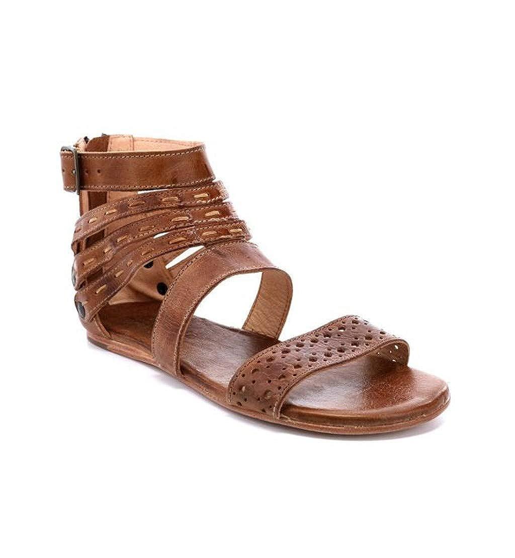 Realdo Retro Womens Fashion PU Leather Cross Flats Open Toe Shoes Beach Roman Sandals