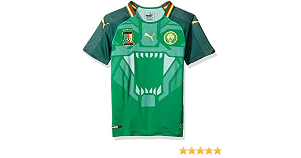 0df202fcb311 Amazon.com   PUMA 2018-2019 Cameroon Home Football Soccer T-Shirt Jersey  (Kids)   Sports   Outdoors