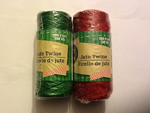 Crafters Square Jute Twine 100 feet each Greenbrier Red and Green