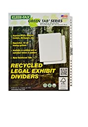 Kleer-Fax A4-Size Index Dividers, Collated Numbered Sets, Side Tab, 1/25th Cut, 1 Set per Pack, White, 1-25 (82170)