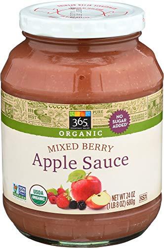 - 365 Everyday Value, Organic Apple Sauce, Mixed Berry, 24 oz