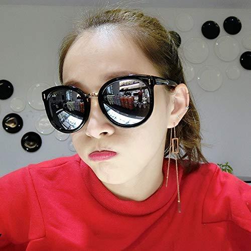 Générique Sunglasses de Lunettes Marée Visage Soleil avec polarisées d'étoiles des Soleil Lunettes de myopie de Rouge du Femmes des Nouveau Water de degré réseau des Lunettes Visage Silver avec Grand Autour rrdIx5wX