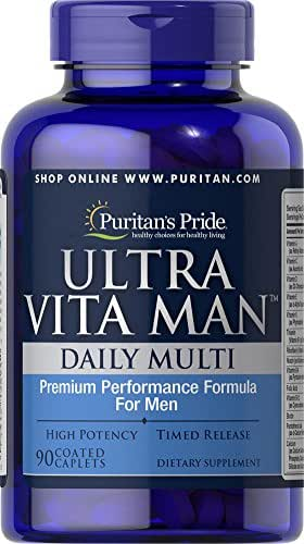Puritan's Pride High Potency Ultra Vita Man Time Release, 90 Coated Caplets