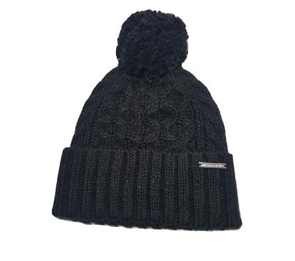 Michael Kors Pom Pom Cable Knit Beanie (Black) at Amazon Women s ... 0f9eefc7148