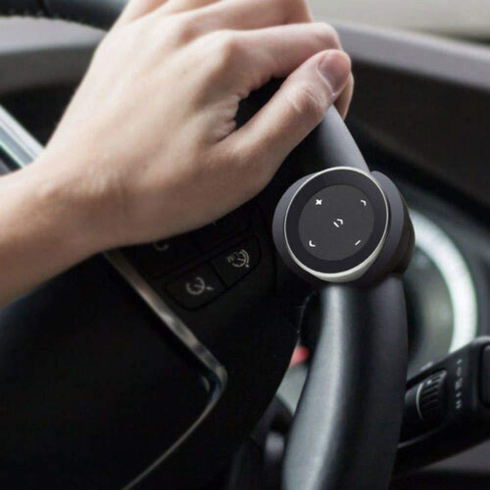 Bot/ón de Medios inal/ámbricos Bluetooth Volante Mando a Distancia para Android iOS Smartphone weixinbuy Bot/ón Multimedia Bluetooth