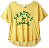 NBA Seattle Supersonics Adult Women Touch S Base Reversible Tee, Small, Gold