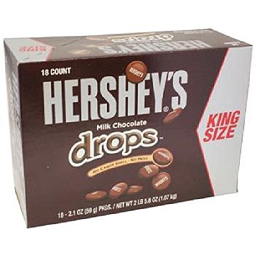 Product Of Hersheys, King Size Milk Chocolate Drops, Count 18 (2.1 oz) - Chocolate Candy / Grab Varieties & Flavors (Hershey Chocolate Drops)