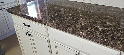EzFaux Decor Countertop Paint? No! Peel and Stick Granite NO PAINT Counter Top Film Transformation. 36