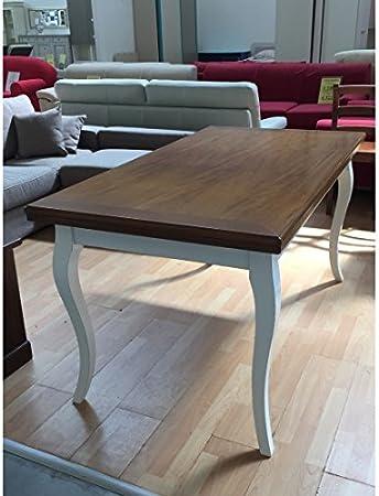 Esteamobili Tavolo Legno Bicolore Anticato140x85 Allungabile 335 Come Foto Amazon It Casa E Cucina